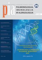Pulmonologija, imunologija ir alergologija 2009 m. I numeris