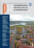 Pulmonologija, imunologija ir alergologija 2016 m. I numeris