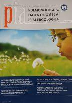 Pulmonologija, imunologija ir alergologija 2011 m. I numeris