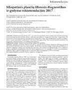 Idiopatinės plaučių fibrozės diagnostikos ir gydymo rekomendacijos 2017 m.