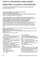 Lietuvos obstrukcinės miego apnėjos diagnostikos ir gydymo rekomendacijos