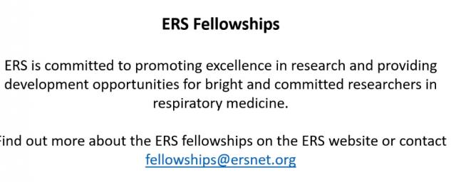 Informacija apie ERS Fellowship Portfolio 2018