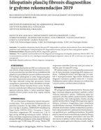 Idiopatinės plaučių fibrozės diagnostikos ir gydymo rekomendacijos 2019 m.